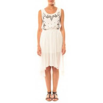 textil Mujer Vestidos De Fil En Aiguille Robe Victoria & Karl GH0012 Blanc Blanco