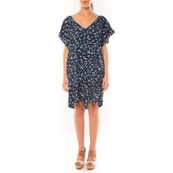 textil Mujer Vestidos Dress Code Robe It Hippie K536-1 Bleu/Blanc Azul