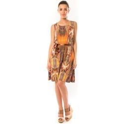 textil Mujer Vestidos cortos Dress Code Robe Elissa B369 Orange Naranja