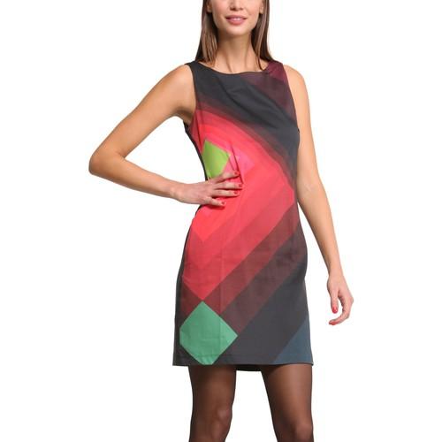 textil Mujer Vestidos cortos Desigual Robe Ada 47V2836 Noir Negro