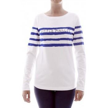 textil Mujer Camisetas manga larga Little Marcel T-shirt Tiprint H14IBF213 Blanc Blanco
