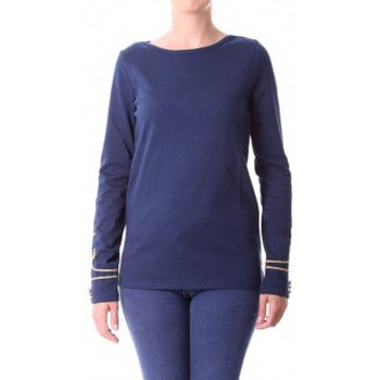 textil Mujer Camisetas manga larga Little Marcel T-shirt Tigalon H14IBF240 Bleu Azul