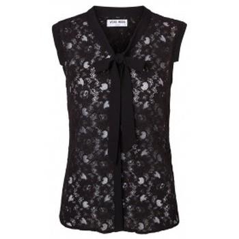 textil Mujer Camisetas sin mangas Vero Moda Tina SL Top 10116974 Noir Negro