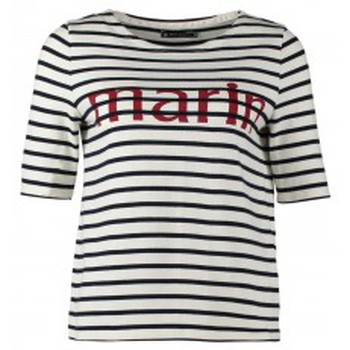 textil Mujer Camisetas manga corta Petit Bateau Tee-shirt Marinière 1078949240 Blanc Blanco