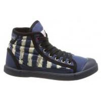 Zapatos Mujer Zapatillas altas Little Marcel Baskets Samba Up Stripes Bleu Azul