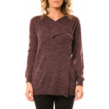 textil Mujer Chaquetas de punto Vero Moda Norma Copenhagen LS Drapey Cardigan 10111324 Prune Violeta