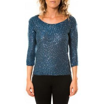textil Mujer Jerséis Vero Moda Shine 3/4 Boatneck 10122550 Marine Azul