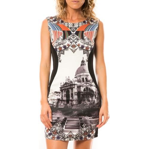 textil Mujer Vestidos cortos Nina Rocca Robe W-048 - Noir Negro