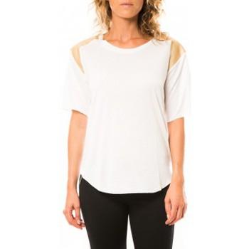 textil Mujer Camisetas manga corta Coquelicot T-shirt CQTW14410 Blanc Blanco