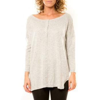 textil Mujer Chaquetas de punto Vision De Reve Vision de Rêve Gilet 12026 Gris Gris