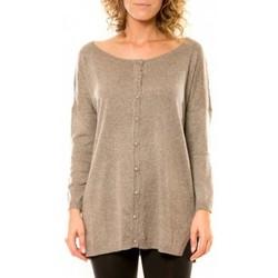 textil Mujer Chaquetas de punto Vision De Reve Vision de Rêve Gilet 12026 Taupe Marrón