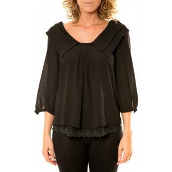 textil Mujer Camisas Vision De Reve Vision de Rêve Chemisier Col Claudine IP11012 Noir Negro
