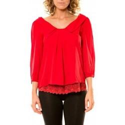 textil Mujer Camisas Vision De Reve Vision de Rêve Chemisier Col Claudine IP11012 Rouge Rojo