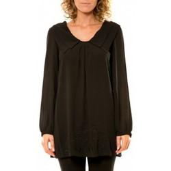 textil Mujer Camisas Vision De Reve Vision de Rêve Chemisier Col Claudine IP11013 Noir Negro