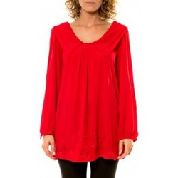 textil Mujer Camisas Vision De Reve Vision de Rêve Chemisier Col Claudine IP11013 Rouge Rojo
