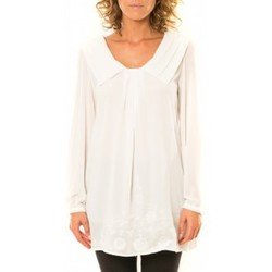textil Mujer Camisas Vision De Reve Vision de Rêve Chemisier Col Claudine IP11013 Blanc Blanco