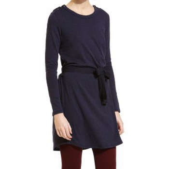textil Mujer Vestidos cortos Petit Bateau Robe Manches Longues 1062413210 Bleu Azul