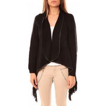 textil Mujer Chaquetas de punto Tcqb Gilet Andy Noir Negro