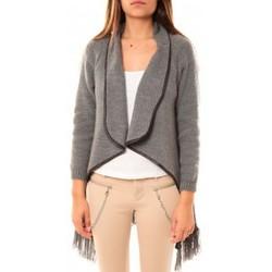 textil Mujer Chaquetas de punto Tcqb Gilet Andy Gris Gris