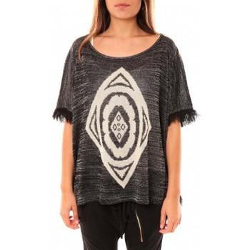 textil Mujer Jerséis Tcqb Poncho Di&A 0196 Noir Negro