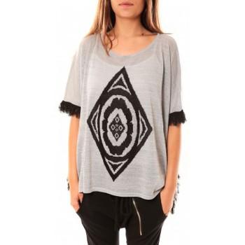 textil Mujer Jerséis Tcqb Poncho Di&A 0196 Gris Gris