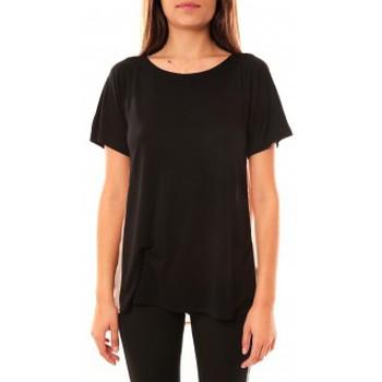 textil Mujer Camisetas manga corta Coquelicot T-shirt CQTW14311 Noir Negro