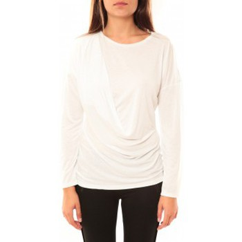 textil Mujer Camisetas manga larga Coquelicot T-shirt CQTW14303 Blanc Blanco