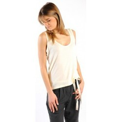 textil Mujer Camisetas sin mangas American Vintage DEBARDEUR NOU27 NATUREL Beige