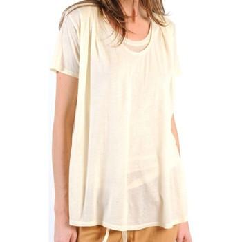 textil Mujer Camisetas manga corta American Vintage TOP BEL20E11 NATUREL Beige