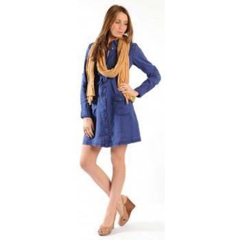 textil Mujer Vestidos cortos Sud Express ROBE ROSINAL OCEAN Azul