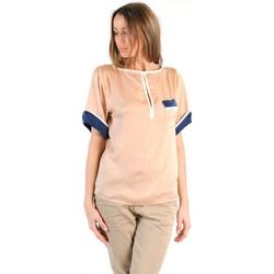 textil Mujer Camisetas manga corta Tcqb TOP MIMOSA BEIGE Beige