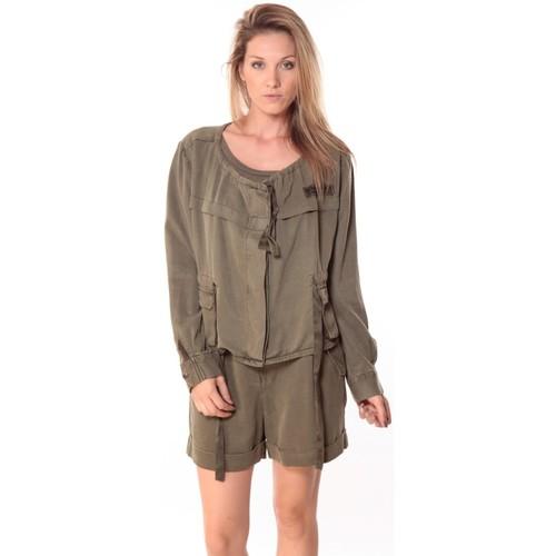 textil Mujer Tops / Blusas Sack's Veste Woman Kaki 21150088 Verde