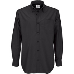textil Hombre Camisas manga larga B And C SMO01 Negro