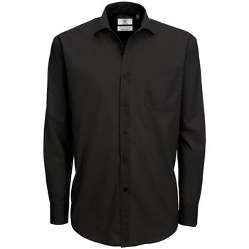 textil Hombre Camisas manga larga B And C SMP61 Negro