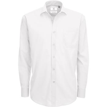 textil Hombre Camisas manga larga B And C SMP61 Blanco