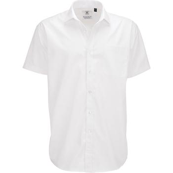 textil Hombre Camisas manga corta B And C SMP62 Blanco