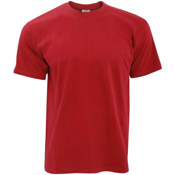 textil Hombre Camisetas manga corta B And C TU004 Rojo