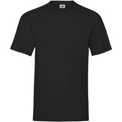 textil Hombre Camisetas manga corta Fruit Of The Loom 61036 Negro