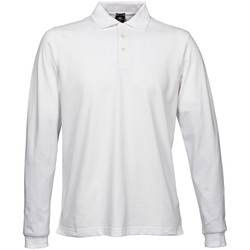 textil Hombre Polos manga larga Tee Jays TJ1406 Blanco