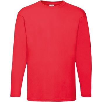 textil Hombre Camisetas manga larga Fruit Of The Loom 61038 Rojo
