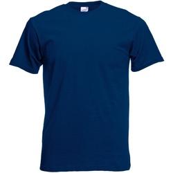 textil Hombre Camisetas manga corta Fruit Of The Loom 61082 Azul marino