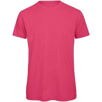 textil Hombre Camisetas manga corta B And C TM042 Fucsia