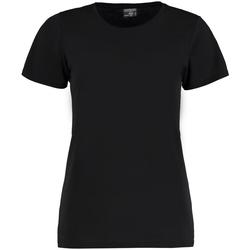textil Mujer Camisetas manga corta Kustom Kit Superwash Negro
