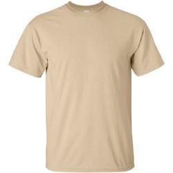 textil Hombre Camisetas manga corta Gildan Ultra Tostado
