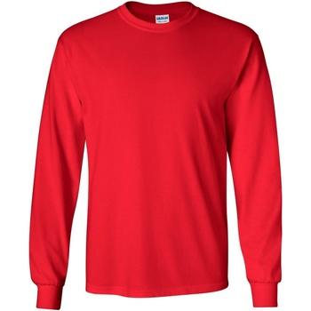 textil Hombre Camisetas manga larga Gildan 2400 Rojo