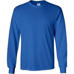 textil Hombre Camisetas manga larga Gildan 2400 Azul