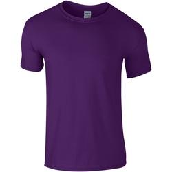 textil Hombre Camisetas manga corta Gildan Soft-Style Púrpura