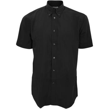 textil Hombre Camisas manga corta Kustom Kit KK100 Negro