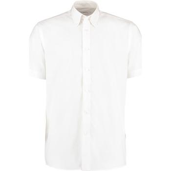textil Hombre Camisas manga corta Kustom Kit KK100 Blanco