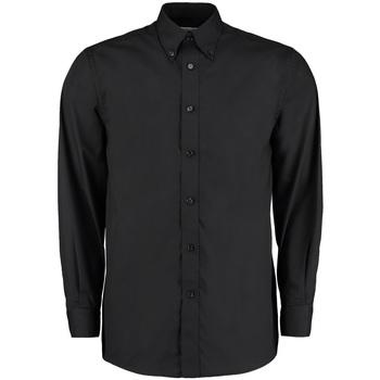 textil Hombre Camisas manga larga Kustom Kit KK140 Negro